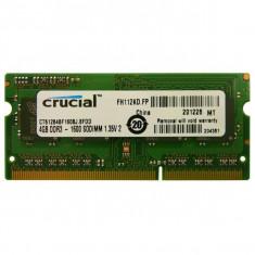 Crucial CT51264BF160BJ, SODIMM 4GB DDR3 1600MHz CL11 - Memorie RAM laptop