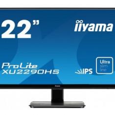 Monitor LED Iiyama Prolite XU2290HS-B1, 21.5 inch, 1920 x 1080 Full HD, negru, 22 inch