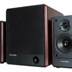 Microlab FC-330, Sistem 2.1, 56W RMS, lemn - Boxe PC
