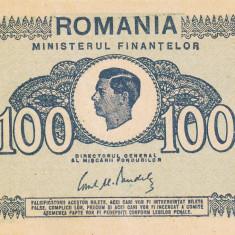 ROMANIA 100 lei 1945 XF!!! - Bancnota romaneasca