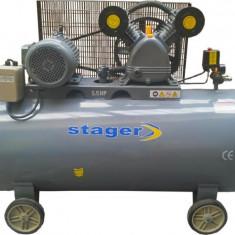STAGER Compresoare aer HM-V-0.6/200L, 200L, 8bar - Compresor electric