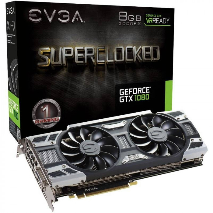 Placa video EVGA EVGA GeForce GTX 1080 SC GAMING ACX 3.0, 8GB GDDR5X (256 Bit), HDMI, DVI, 3xDP foto mare