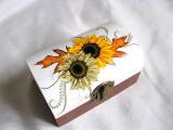 Cutie din lemn -floarea soarelui-28735