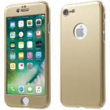 Husa 360º protectie fata-spate iPhone 7/7PLUS cu Folie de sticla inclusa ! - Husa Telefon, Auriu