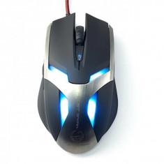 Mouse Enzatec gaming Team Scorpion Frost Wyam, Optic USB, 2000 dpi, Negru, Optica
