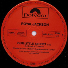 Royal Jackson - Our Little Secret (1987, Polydor) disc vinil Maxi Single  Soul