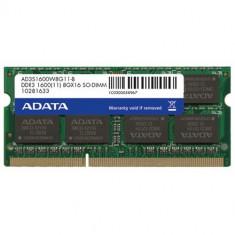 A-Data 2GB DDR3 SO-DIMM, 1600MHz, BULK - Memorie RAM laptop