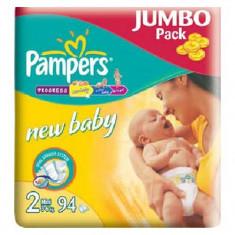 PAMPERS Scutece New Baby 2 Mini Jumbo Pack 94 buc - Scutece unica folosinta copii
