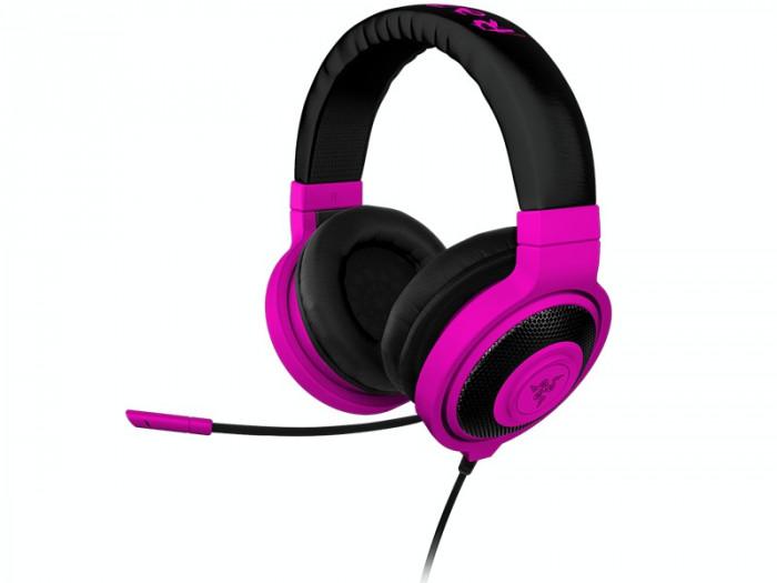 Casti Razer Kraken Pro Neon Gaming, violet foto mare