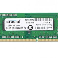 Crucial Memorie RAM CT25664BF160B, SODIMM, DDR3, 2 GB, 1600MHz, CL11, unbuffered, non-ECC - Memorie RAM laptop