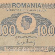 ROMANIA 100 lei 1945 VF+++!!! - Bancnota romaneasca