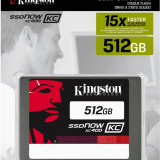 Kingston Now KC400, 512GB, SATA 2.5 inch, Speed 550/530MB - SSD