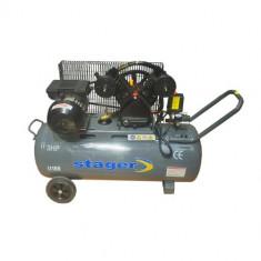 STAGER Compresor aer HM-V-0.25/100L, 100L, 8bar - Compresor electric