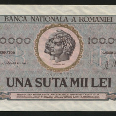 X908 BANCNOTA DE 100000 LEI 1947 Ianuarie UNC - Bancnota romaneasca