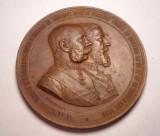 Medalie Regele Carol I Vizita Imparatului Franz Josef la Bucuresti 1896 SUPERBA