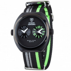 Ceas original Detomaso Santerno Black/Green - Ceas barbatesc Detomaso, Sport