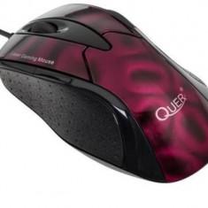 Mouse Quer Gamer KOM0567, laser, USB, rosu
