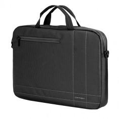 SUMDEX Continent CC-201, Geanta laptop, 15.6 inch, antracit, Nailon, Gri