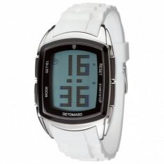 Ceas original Detomaso Spacy LCD Silicon White - Ceas barbatesc Detomaso, Sport