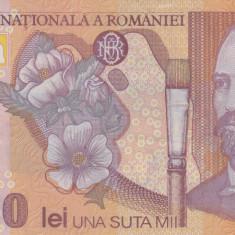ROMANIA 100.000 lei 2001 polymer VF!!! - Bancnota romaneasca