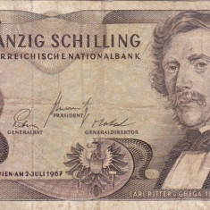 AUSTRIA 20 schilling 1967 F+!!!