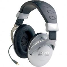 Casti Generic XX027051, profesionale tip DJ Koss PRO3AA BB 1, Negru / Silver, Casti Over Ear, Cu fir, Mufa 3, 5mm, Active Noise Cancelling