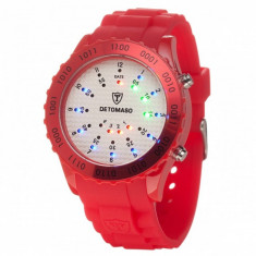 Ceas barbatesc Detomaso Spacy Silicon Red/White, Casual