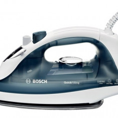 Fier de calcat Bosch TDA2365, 2200 W, alb/ albastru, Palladium-Glissee