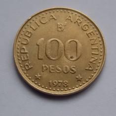 100 PESOS 1978 ARGENTINA-COMEMORATIVA, America Centrala si de Sud