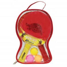 DONIC Set tenis de masa 2 palete + 3 mingi + geanta Allround Neon
