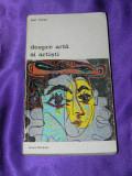Despre arta si artisti - Jean Gimpel (f0564