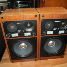 Boxe REALISTIC (Tandy) Optimus X20, 60W, 8 Ohm, sunet specific anilor 70' - 80'
