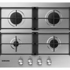 Plita Samsung NA64H3010AS/OL incorporabila pe gaz, inox - Plita incorporabila Samsung, Argintiu, Numar arzatoare: 4