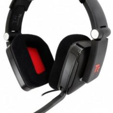 Casti Thermaltake eSports Shock cu microfon, bass premium, negre - Casca PC