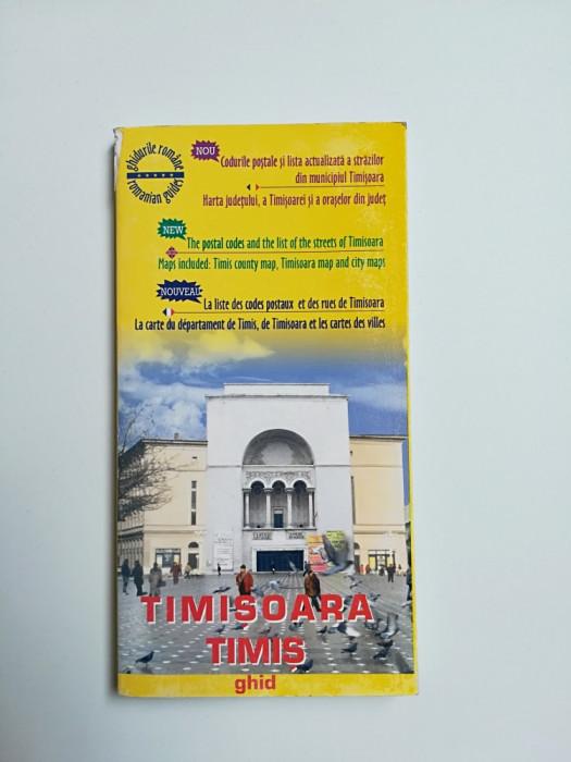 BANAT/TIMIS-GHIDUL ORASULUI TIMISOARA SI AL JUDETULUI, 1997 CU HARTA
