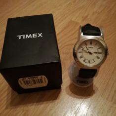 Ceas Timex Indiglo impecabil la cutie - Ceas barbatesc Timex, Sport, Quartz, Inox, Piele, Data