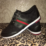Adidasi GUCCI Bărbat model nou!!! - Adidasi barbati Gucci, Marime: 42, Culoare: Negru