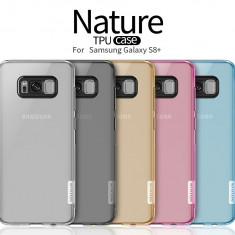 Husa Samsung Galaxy S8 Plus TPU Nature by Nillkin Albastra - Husa Telefon Samsung, Transparent, Gel TPU, Fara snur, Carcasa