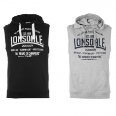 Oferta! Vesta barbati Lonsdale Boxing originala - marimea S M L XL XXL, Culoare: Gri, Negru, Sport