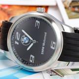 Ceas model BMW motorrad curea silicon negru cadran negru cutie cadou - Ceas barbatesc, Lux - sport, Quartz, Inox, Analog