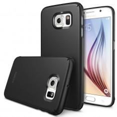 Husa Protectie Spate Ringke Slim SF Black plus folie protectie pentru Samsung Galaxy S6