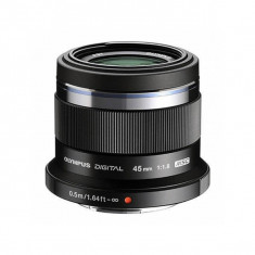 Obiectiv Olympus M.Zuiko Digital 45mm f/1.8 MSC Black montura Micro Four Thirds - Obiectiv mirrorless