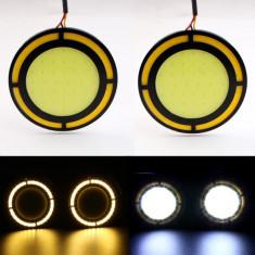 Lumini de ZI cu semnalizare DRL LED COB AL-121016-7, Universal