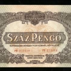 X927 UNGARIA BANCNOTA 100 PENGO 1944 COMANDAMENTUL ARMATEI ROSII aUNC - bancnota europa