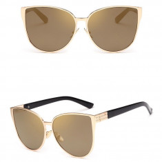 Ochelari de Soare Dama Fashion - CAT EYE / OCHI DE PISICA - UV400 - Model 1, Femei, Protectie UV 100%