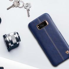 Husa Samsung S8 Plus Englon Leather Cover by Nillkin Albastra - Husa Telefon Nillkin, Albastru, Piele Ecologica, Fara snur, Carcasa