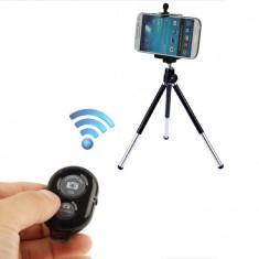 Suport Telefon + Trepied + Telecomanda Camera Telefon Selfie Bluetooth Shutte - Trepied Aparat Foto