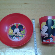 Mickey Mouse by Disney / rosu / set mic dejun NIP
