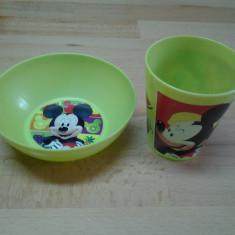 Mickey Mouse by Disney (verde), Set mic dejun NIP