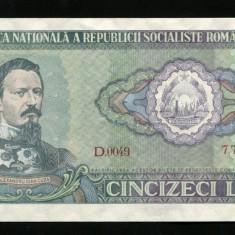 X929 BANCNOTA 50 LEI 1966 aUNC aproape necirculata - Bancnota romaneasca